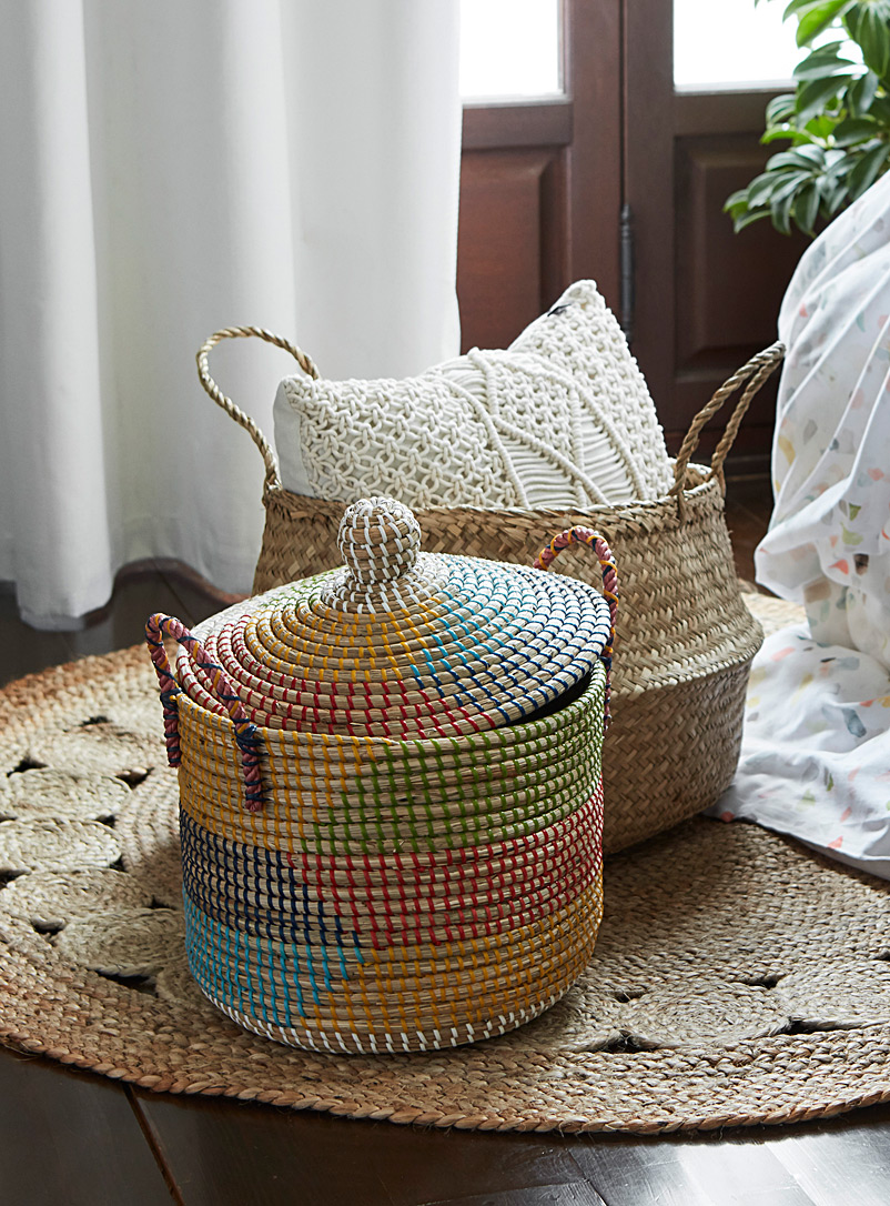 Simons Maison Assorted Colourful seagrass basket