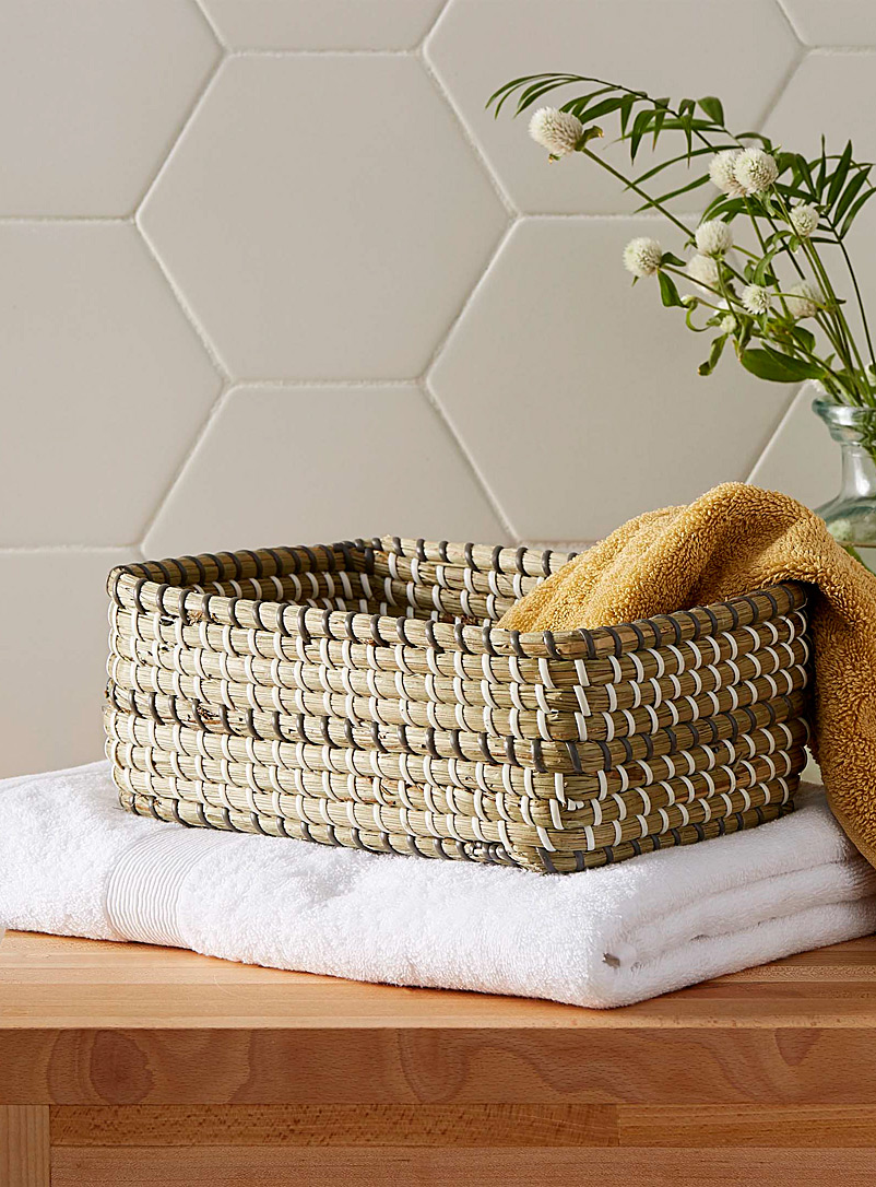 Simons Maison Assorted Rectangular sea grass basket  Small size