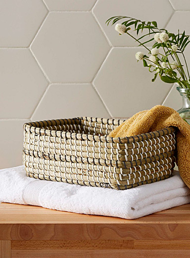 Rectangular sea grass basket <br>Small size