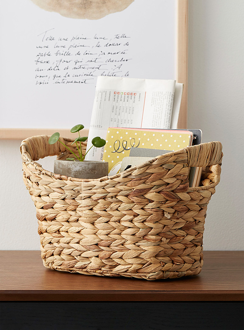 Simons Maison Assorted Seagrass boat basket