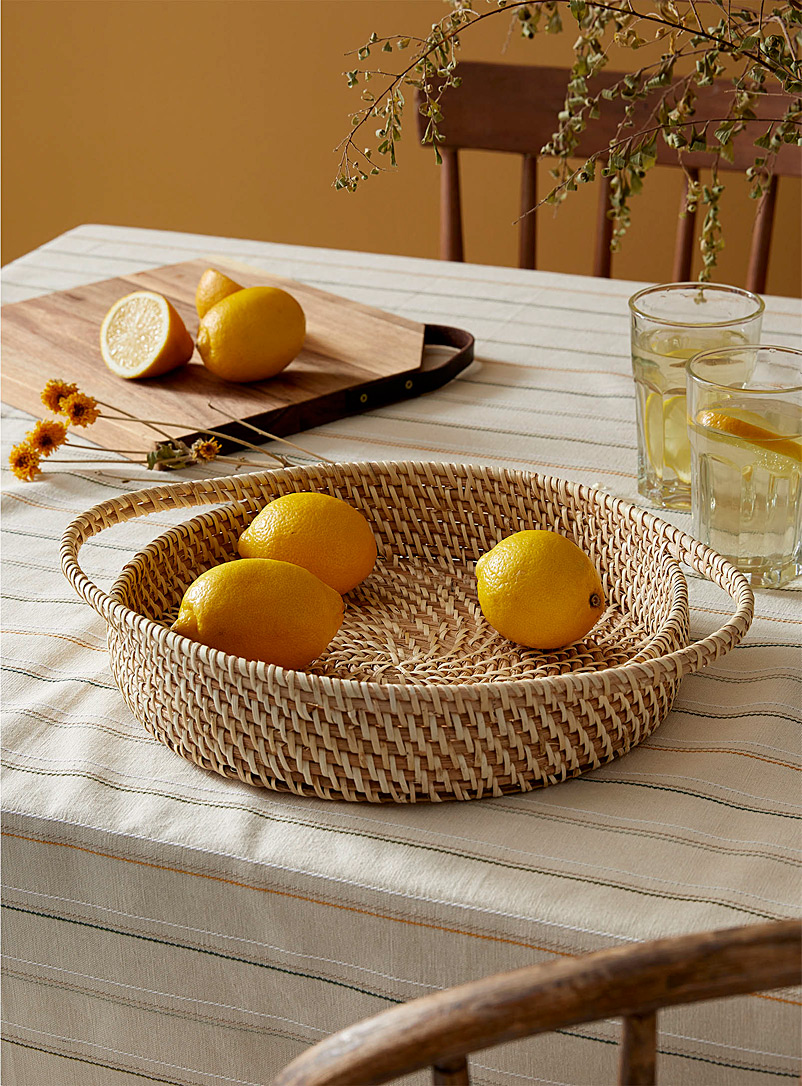Simons Maison Assorted Braided rattan and bamboo tray