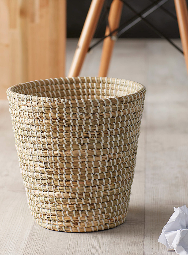 Simons Maison Assorted Seagrass wastebasket