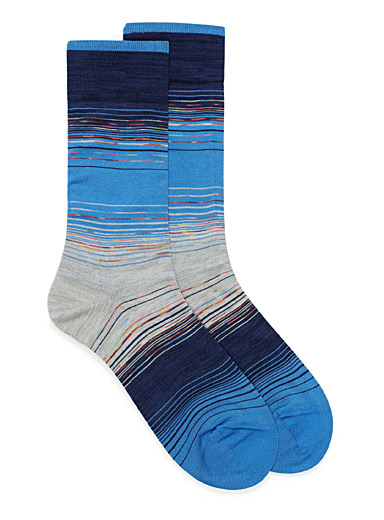 Space dyed stripe socks