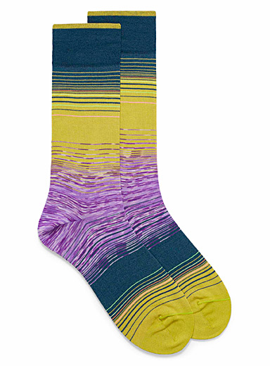 Retro space-dye dress socks