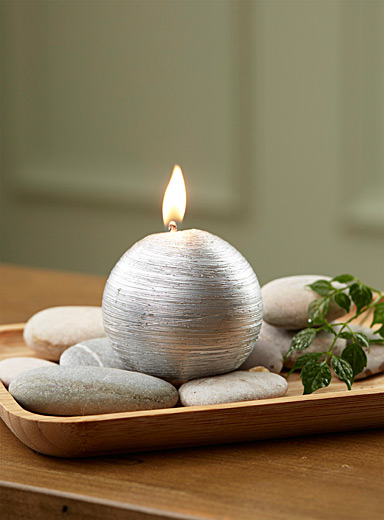 Silver ball candle