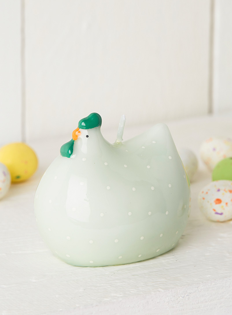 Simons Maison Lime Green Speckled chick candle