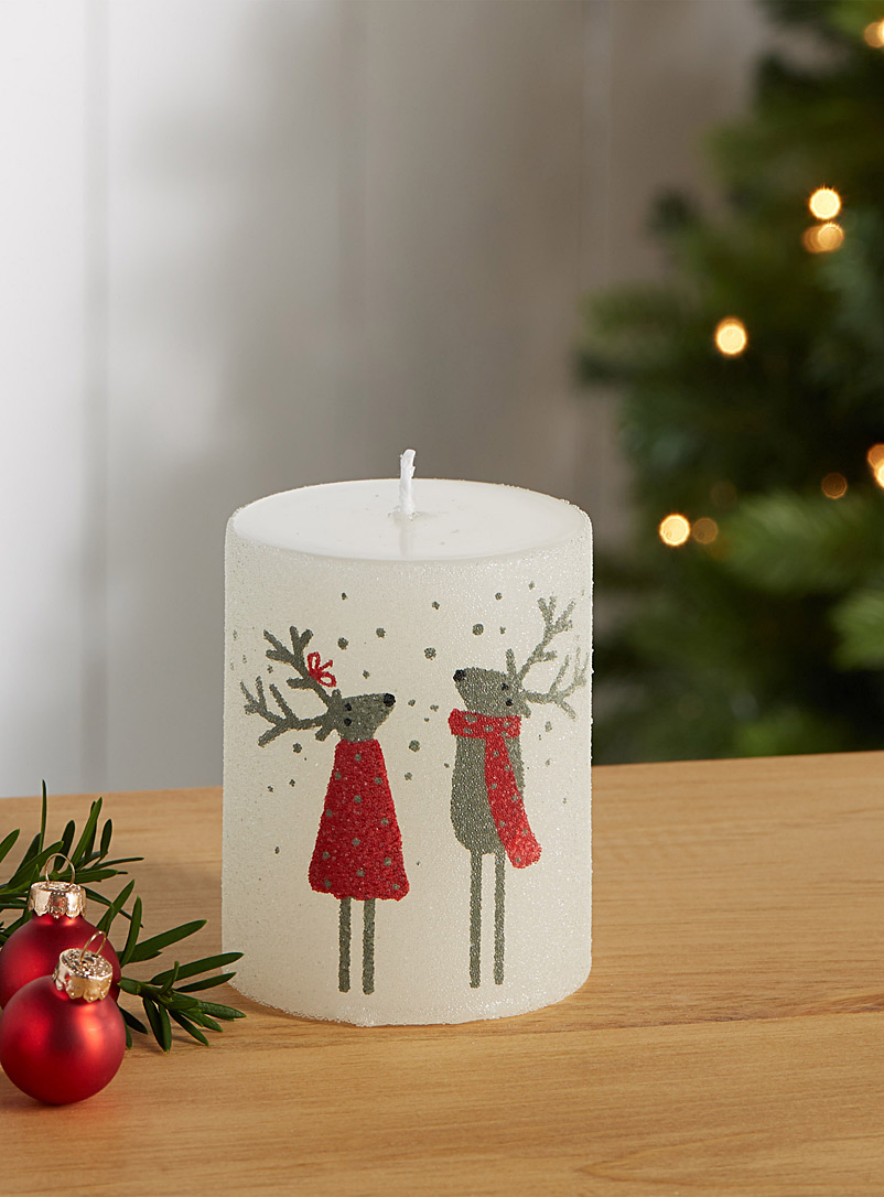 Christmas reindeer candle