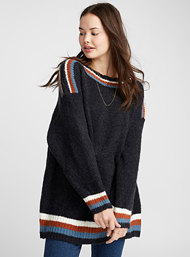 Nordic boat-neck sweater