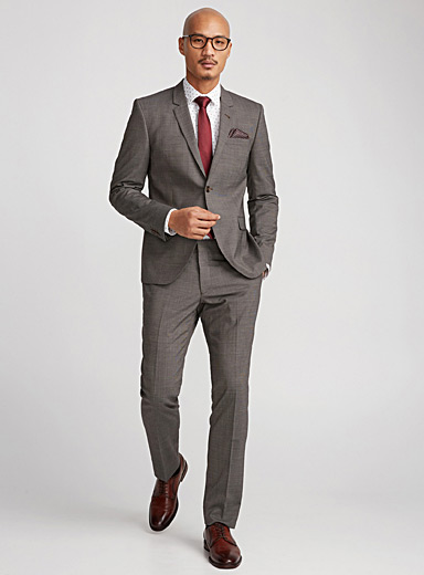 Three-tone micro houndstooth suit  London fit - Semi-slim