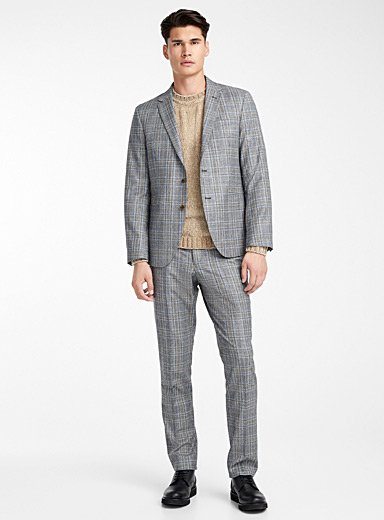 Prince of Wales flannel suit  London fit-Semi-slim