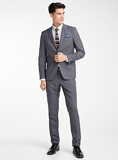 Marzotto gingham suit <br>Berlin fit-Regular
