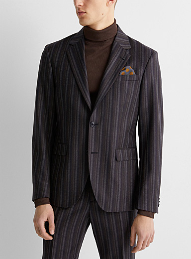 Woven-stripe jacket  London fit - Semi-slim