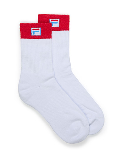 Soft terry block ankle socks