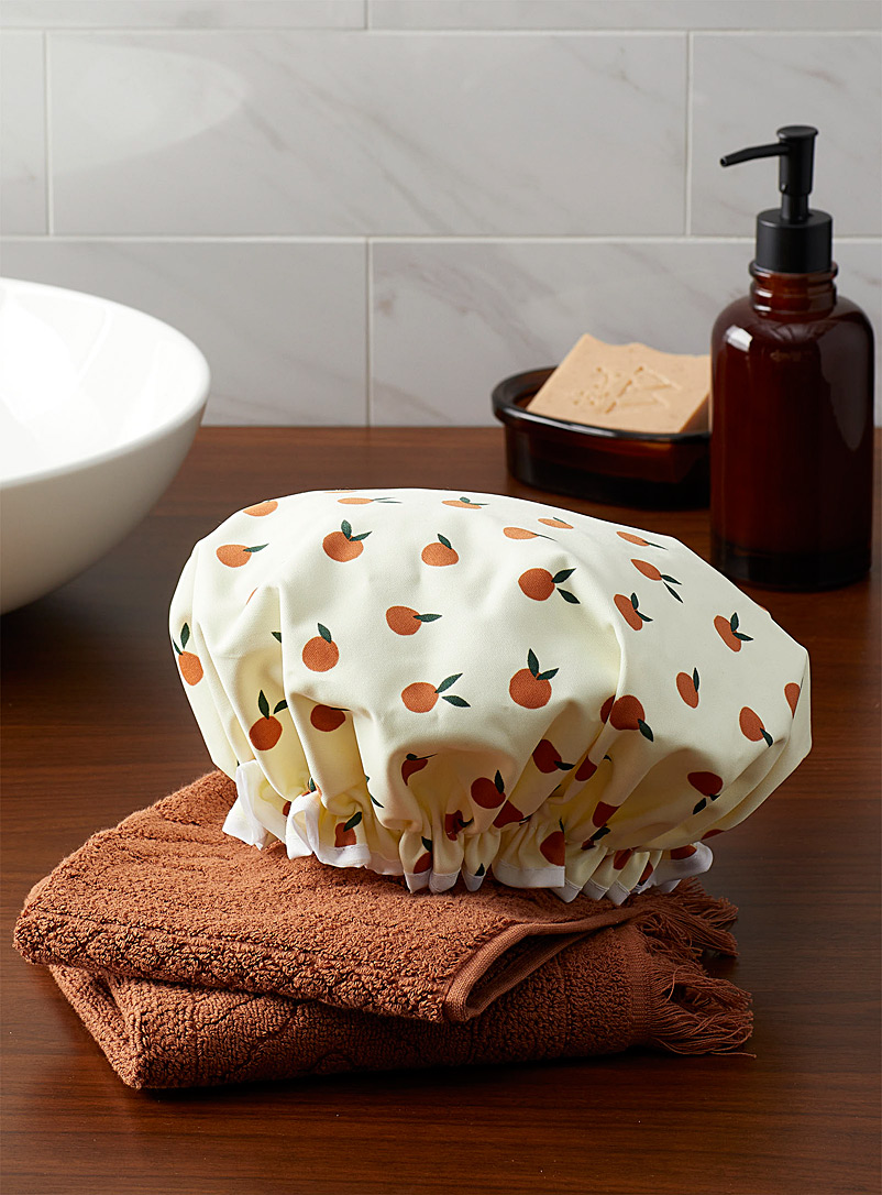 Simons Maison Patterned Blue Tangerines shower cap