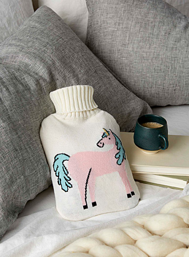Dreamy unicorn hot-water bottle
