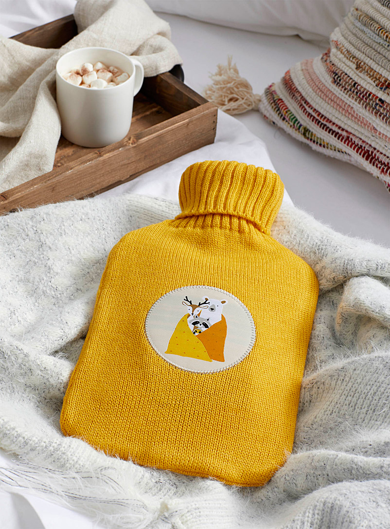 Simons Maison Golden Yellow Snowstorm hot-water bottle