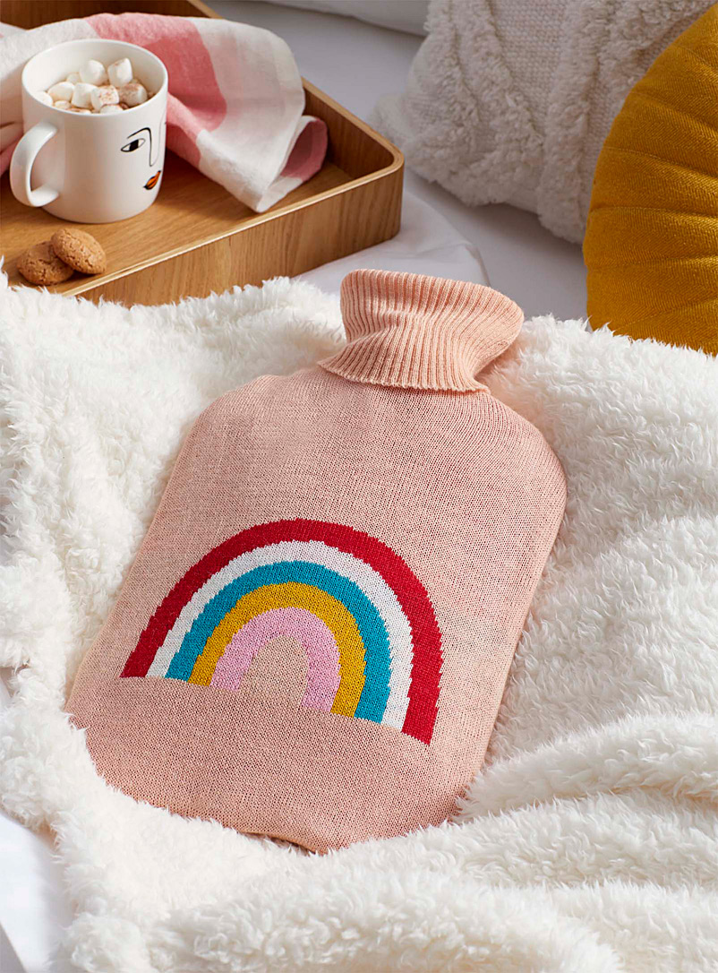 Simons Maison Dusky Pink Rainbow hot-water bottle