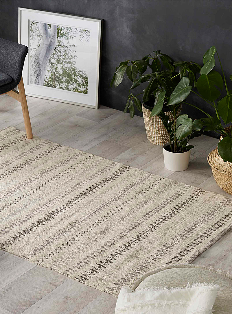 Mekhela jacquard rug  120 x 180 cm - Neutral Basics - Grey