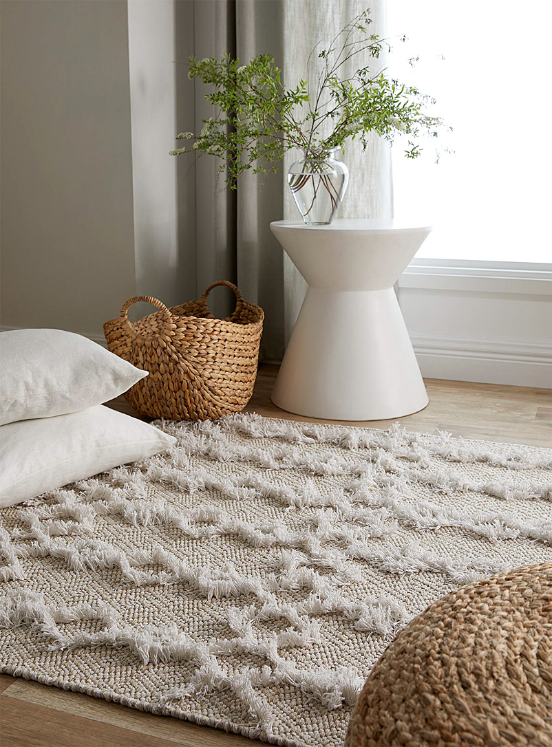 Cutwork rug  120 x 180 cm - Area Rugs - Ivory White