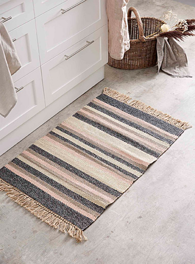 Le tapis rayures napolitaines  60 x 90 cm