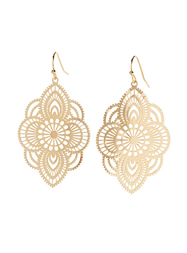 Golden filigree earrings