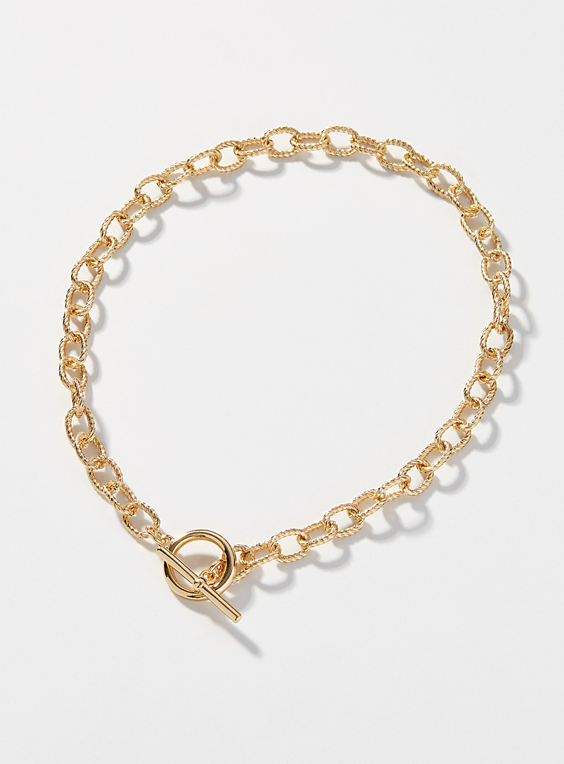 Simons Assorted Textured link necklace for women