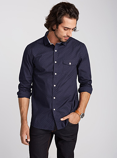 Geo pattern shirt  Semi-tailored fit