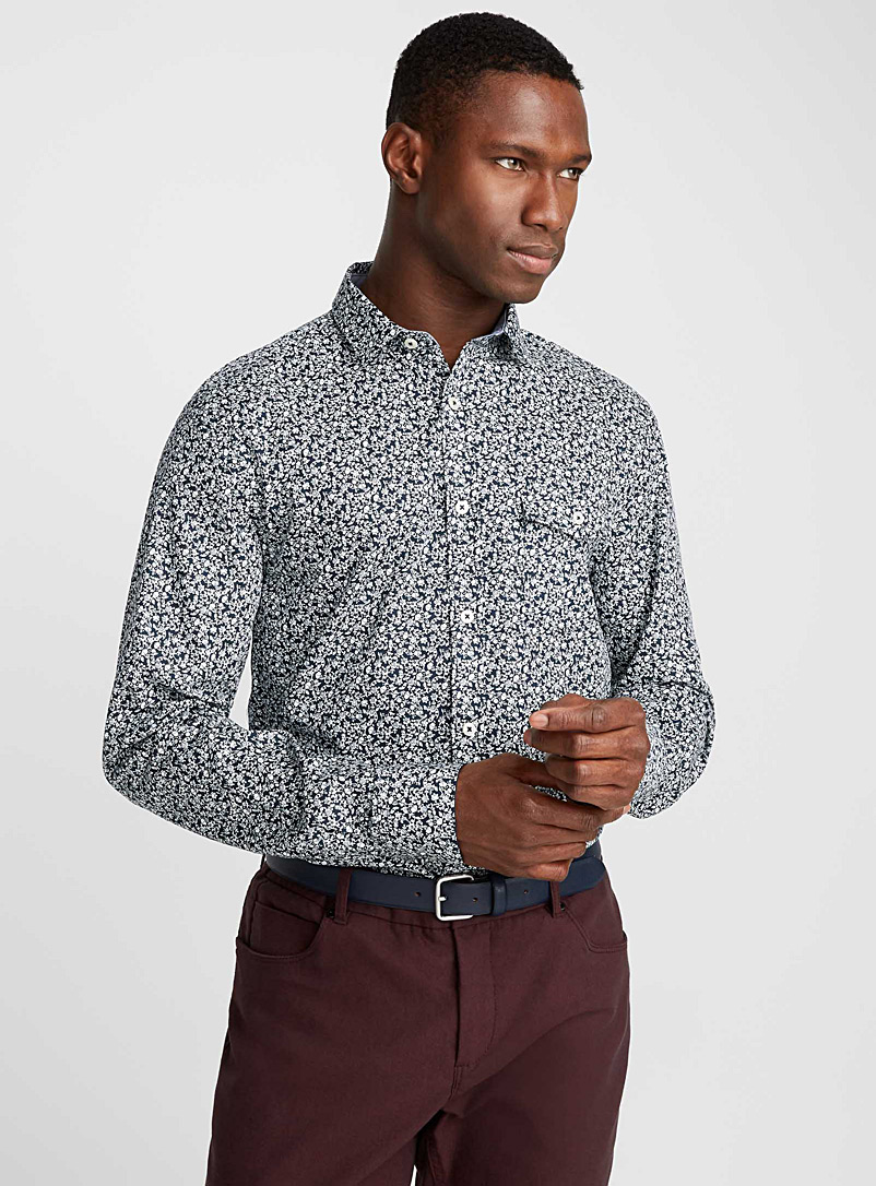 Repeating pattern shirt  Semi-tailored fit - Patterns - Marine Blue