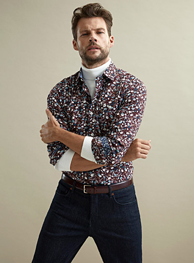Floral wallpaper shirt  Modern fit