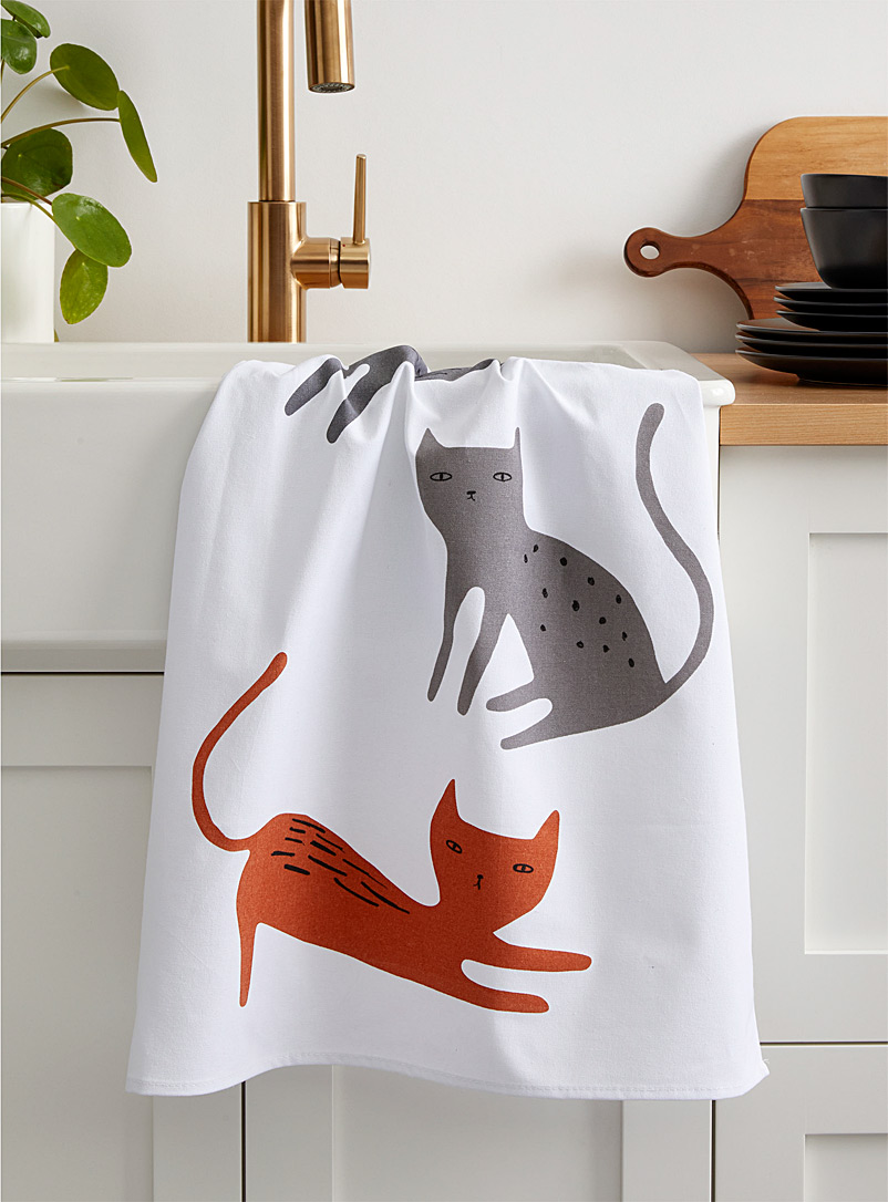 Simons Maison Assorted Cats tea towel
