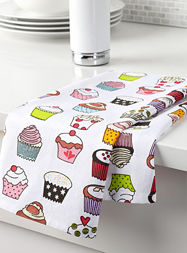 Irresistible cupcake tea towel