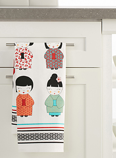 Little asian doll tea towel