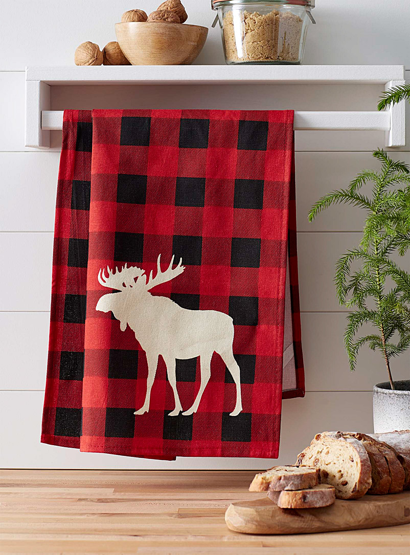 Moose hunt tea towel - Kitchen Linens - Assorted