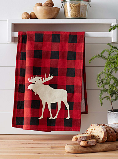 Moose hunt tea towel