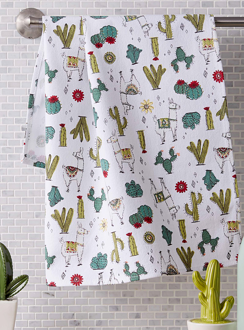 Simons Maison Assorted Desert llamas tea towel