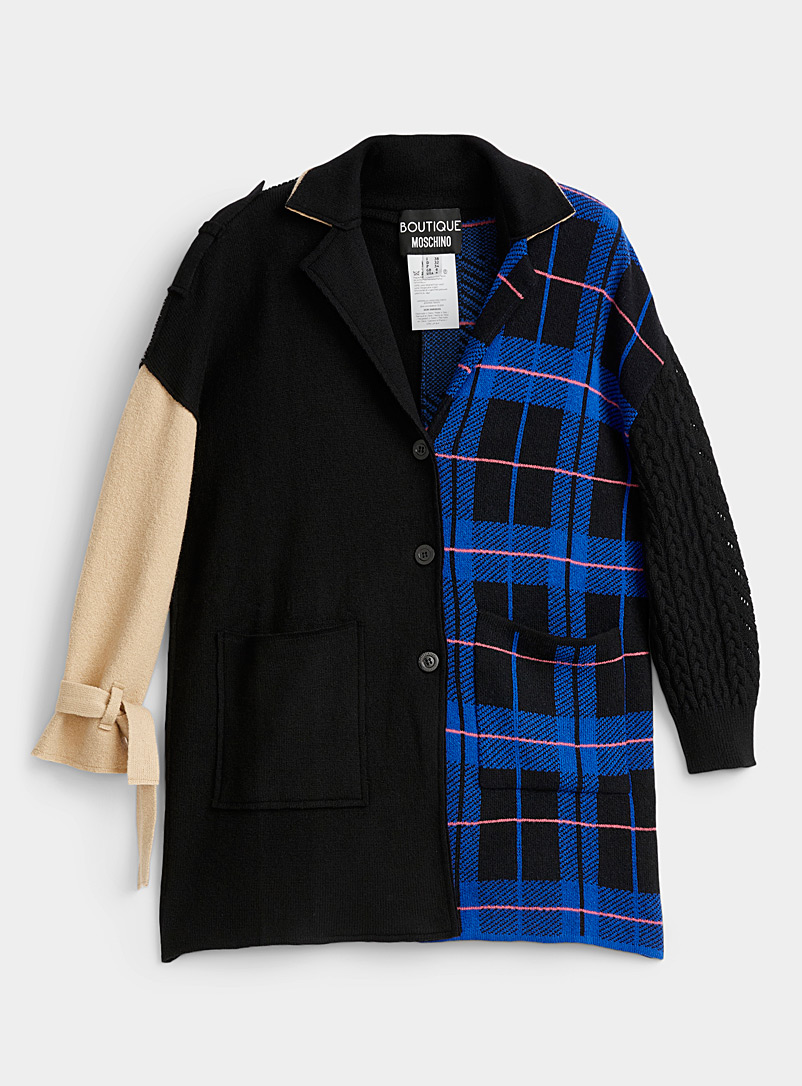 BOUTIQUE Moschino Black Patchwork cardigan for women
