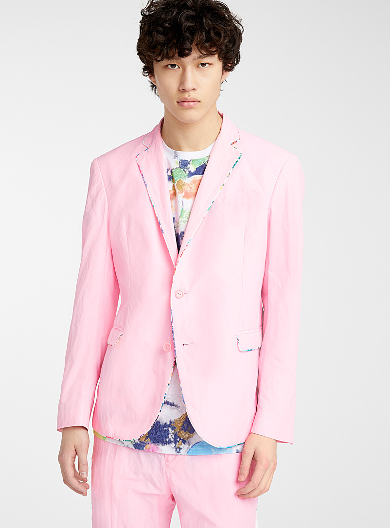 Moschino Pink Colourful piping jacket for men