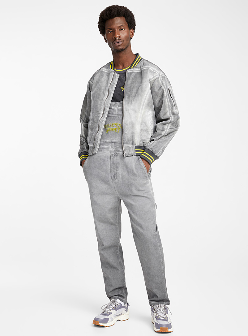 Moschino Light Grey Garment-dyed jacket for men