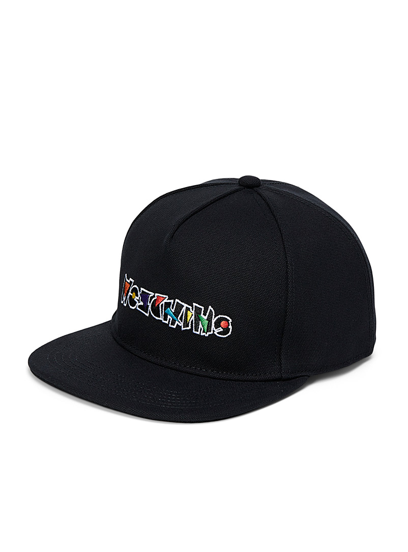 Moschino Black Geometric logo cap for men