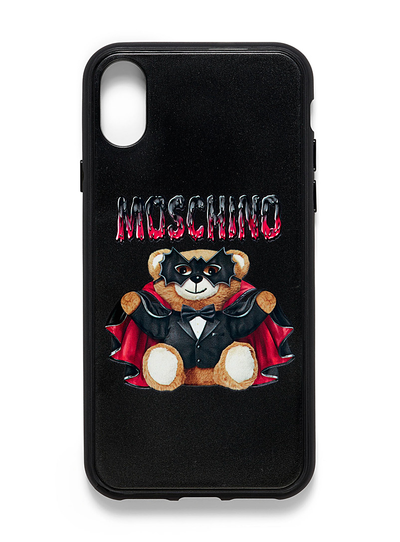 Moschino Black Teddy iPhone Xs/X case for men