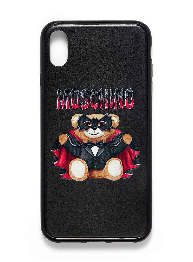 Moschino Black Teddy iPhone Xs Max case for men
