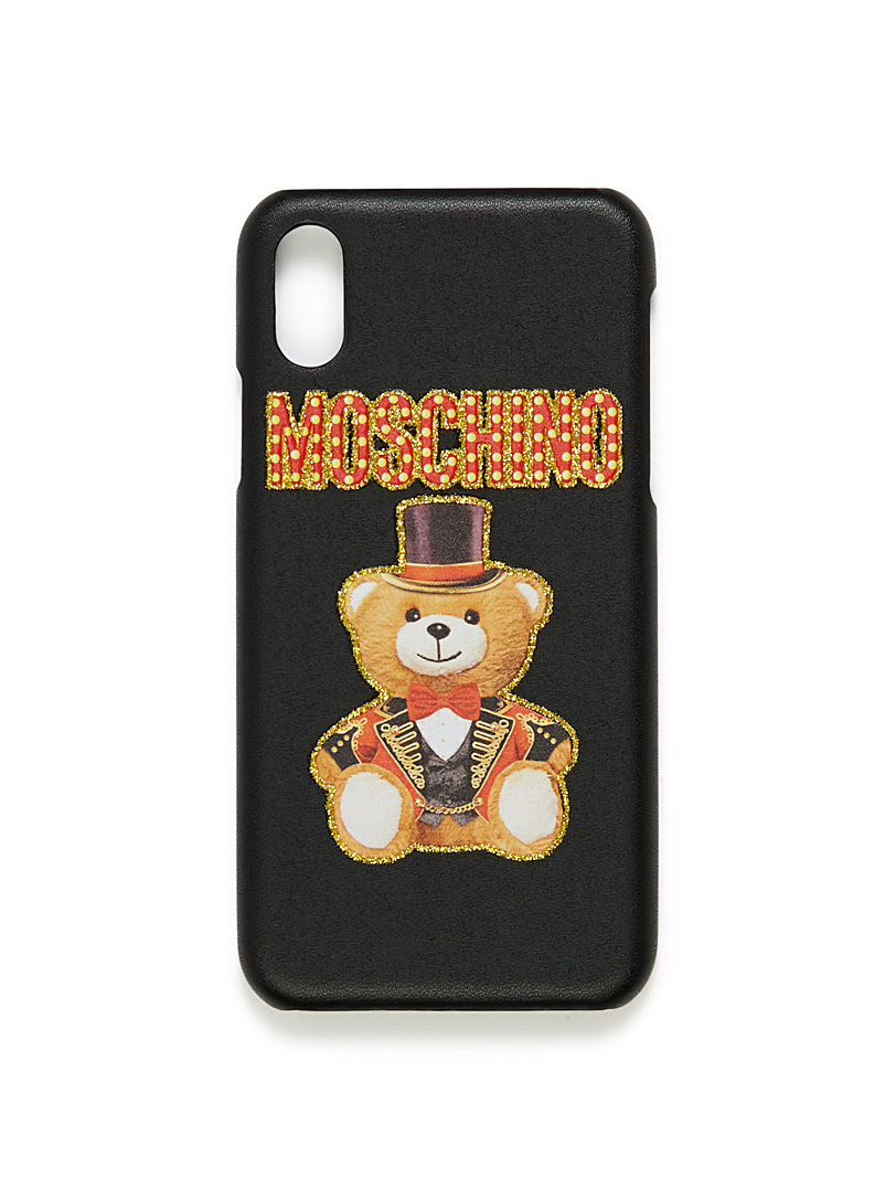 Moschino Black Circus teddy bear iPhone X case for men