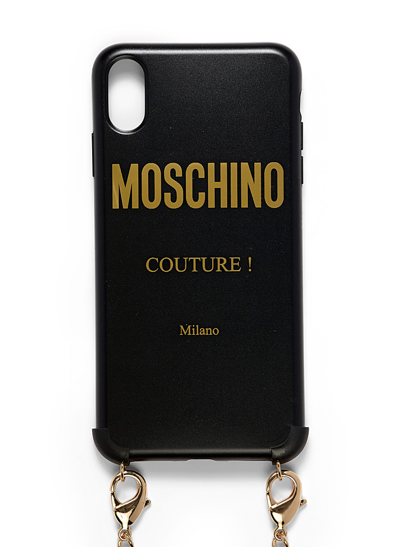 Moschino Black Couture iPhone Xs Max case for men