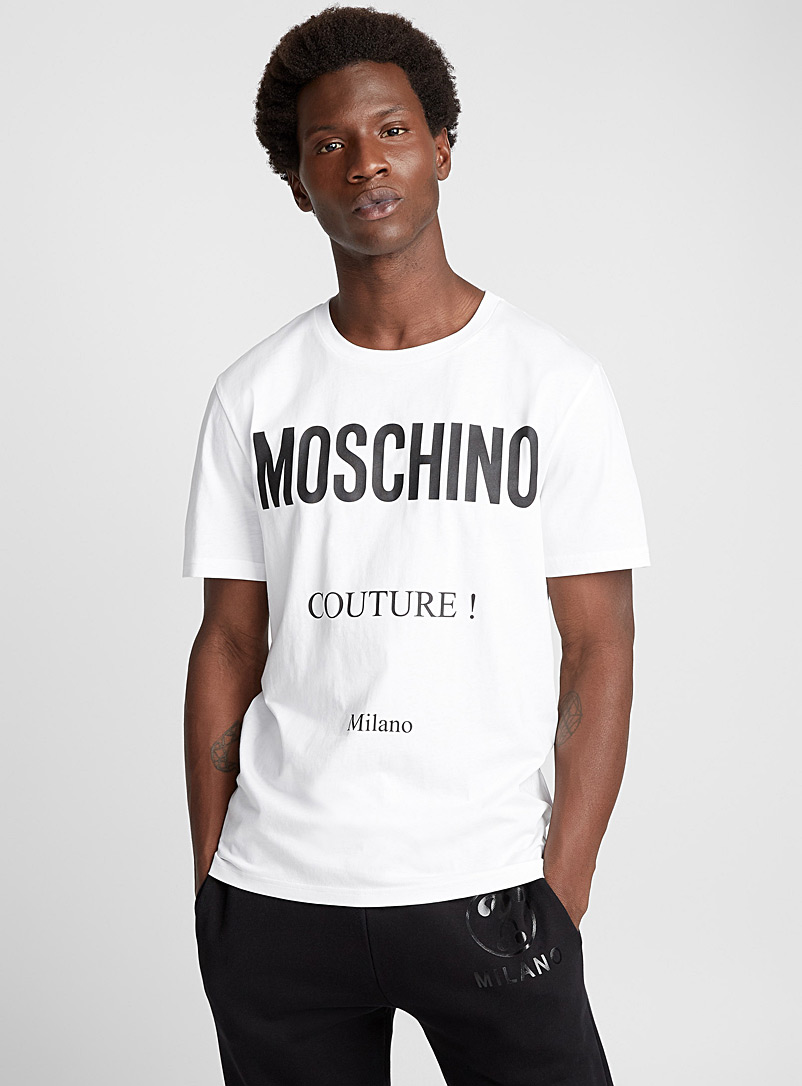 Essential stitched logo T-shirt - Moschino - White