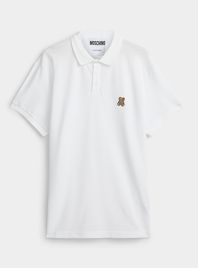 Teddy emblem white polo