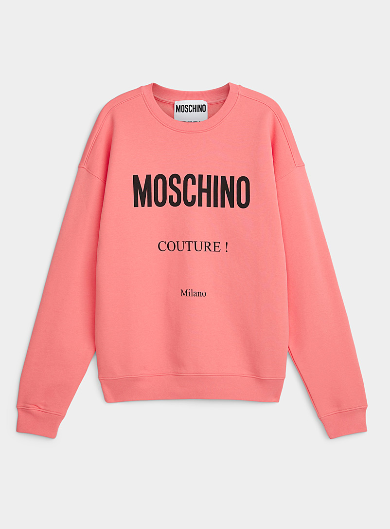 Moschino: Le sweat signature couture Rose pour homme
