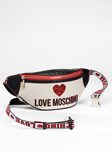 Sequin heart belt bag