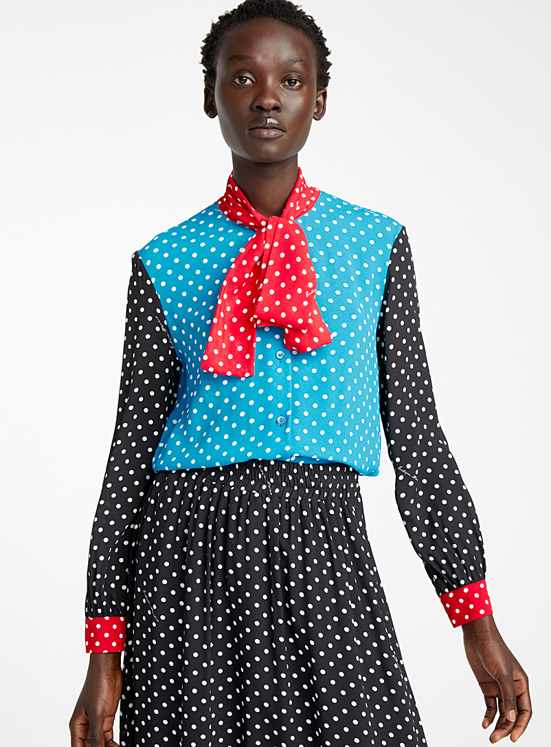 BOUTIQUE Moschino Assorted Polka Dots blouse for women