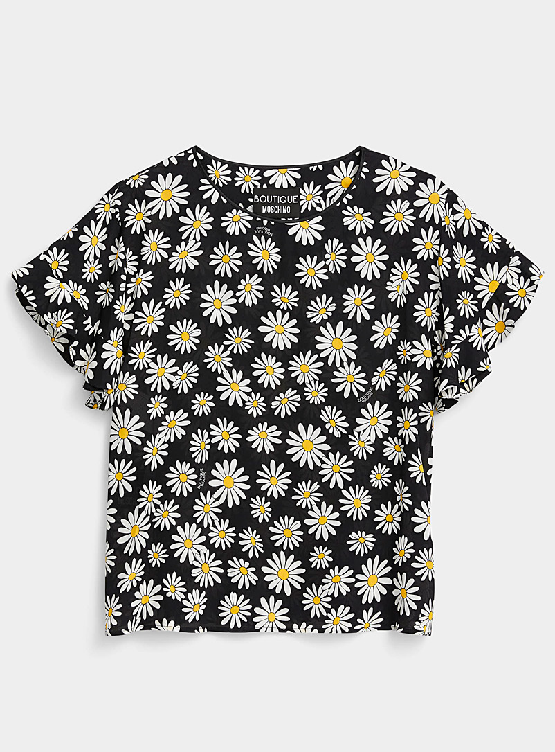 BOUTIQUE Moschino Black Daisy blouse for women