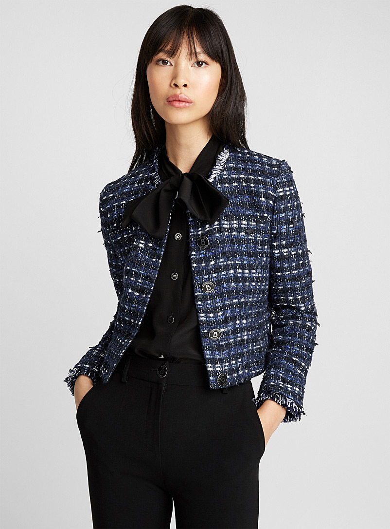 Weaved jacket - Boutique Moschino - Blue